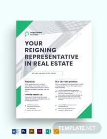 Real Estate Agent/ Agency Marketing Flyer Template