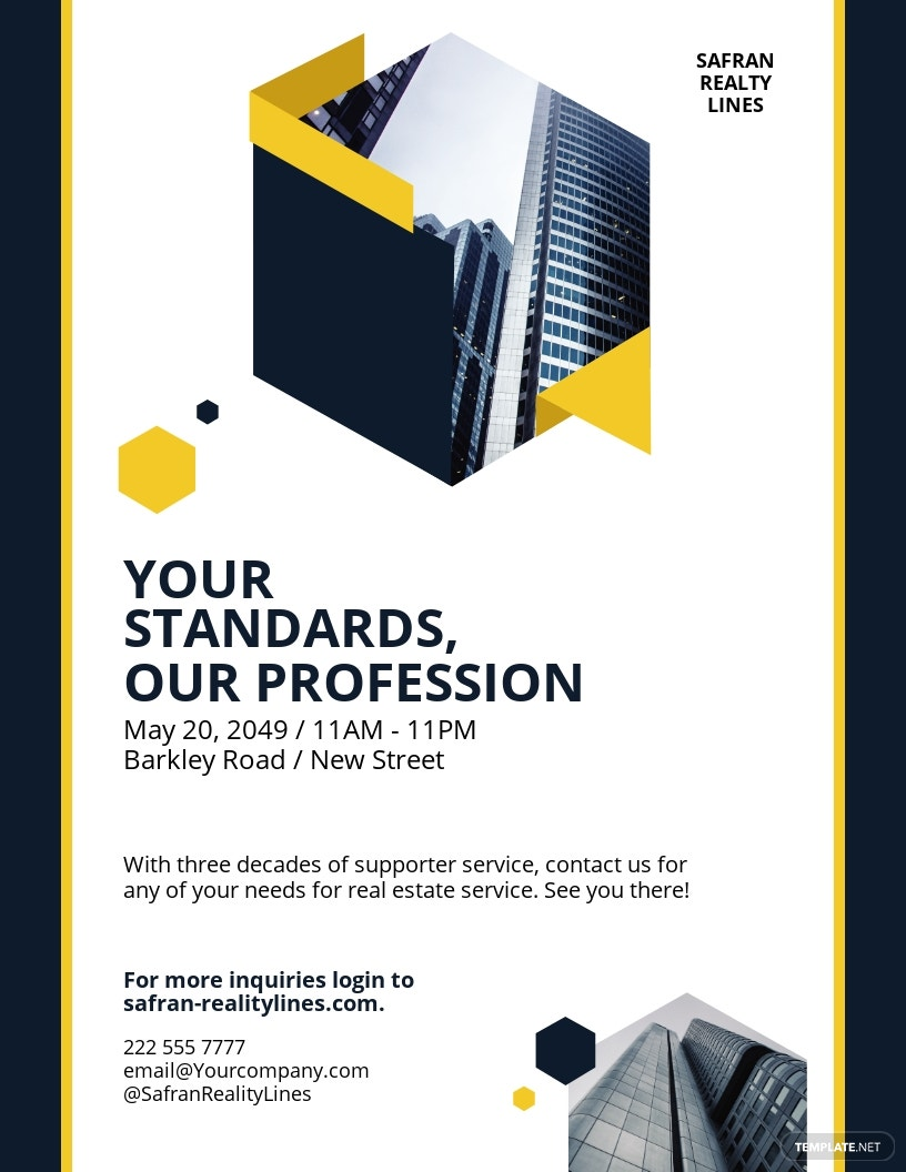 Real Estate Company Investor Flyer Template