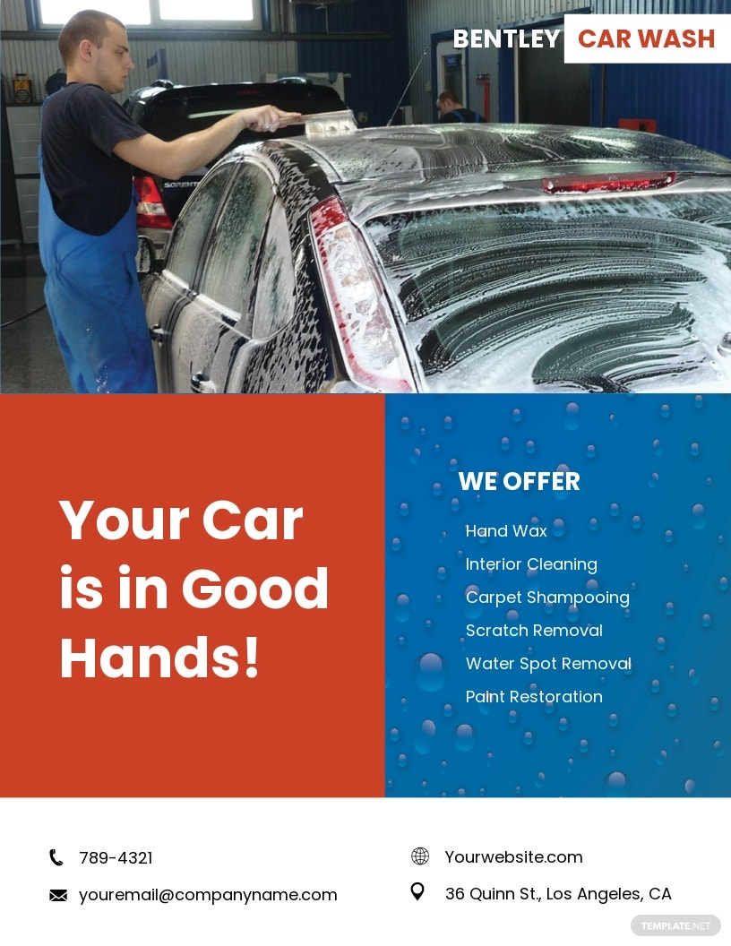 Hand Car Wash Flyer Template