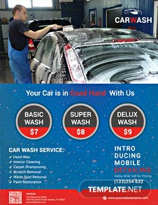 Free Hand Car Wash Flyer Template