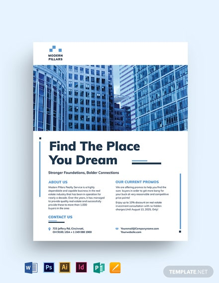 RealEstate investment company Flyer Template