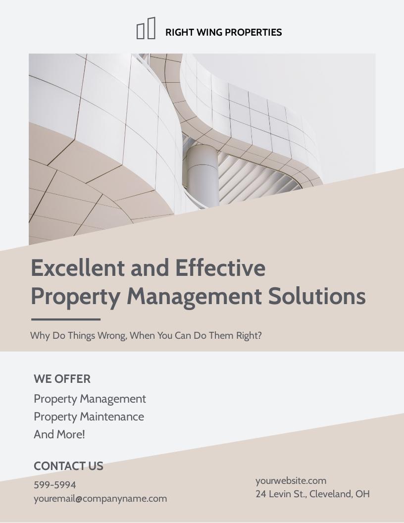 Real Estate Management Flyer Template