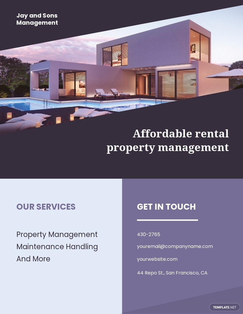 Rental Management Flyer Template