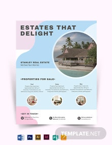 Summer Vacation Rental Flyer Template