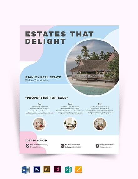 Summer Vacation Rental Flyer Template