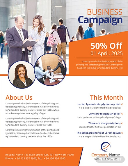 multipurpose campaign flyer template 1x