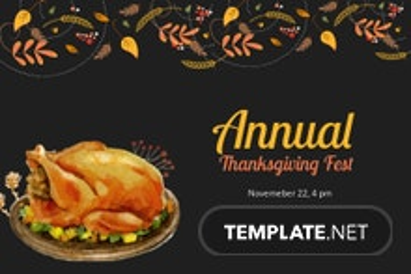 Thanksgiving Fest Postcard Template