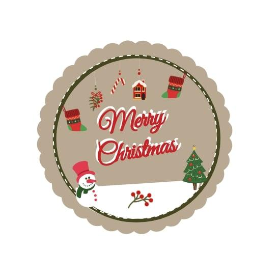 Vintage Christmas Label Template.jpe