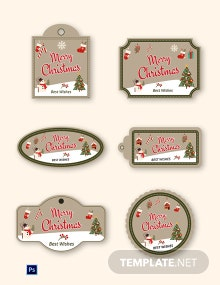 Vintage Christmas Label Template
