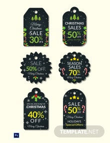 Christmas Sale Tag Template