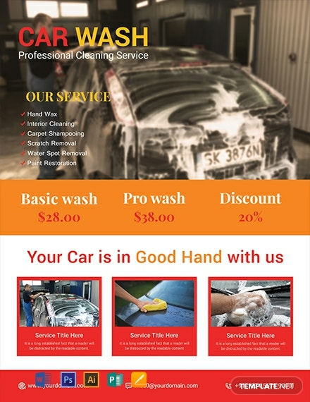 Free Sample Car Wash Flyer Template Download 1423 Flyers In Psd