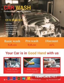 Free Sample Car Wash Flyer Template
