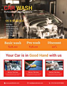 Sample Car Wash Flyer Template