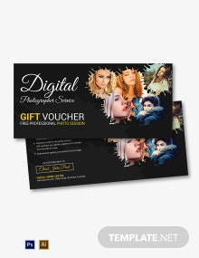 Photography Service Gift Voucher Template