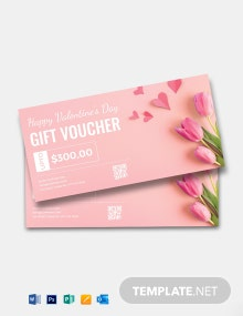 Editable Valentine Day Gift Voucher