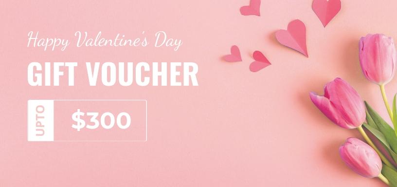 Editable Valentine Day Gift Voucher
