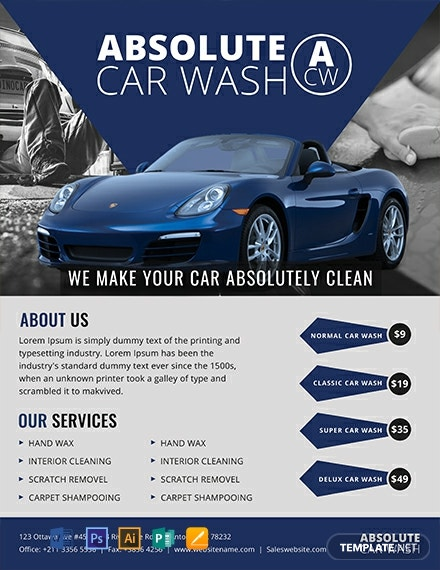 10 Free Car Wash Flyer Templates Download Ready Made Samples