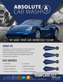 Free Simple Car Wash Flyer Template