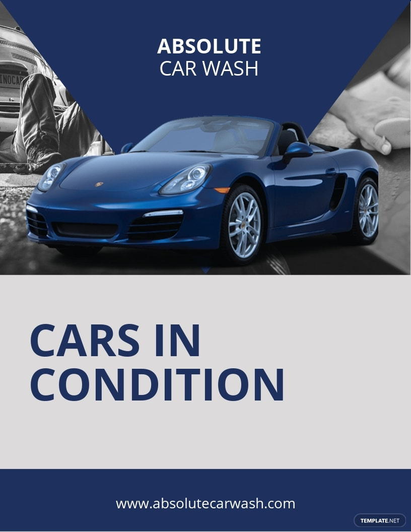 Simple Car Wash Flyer Template