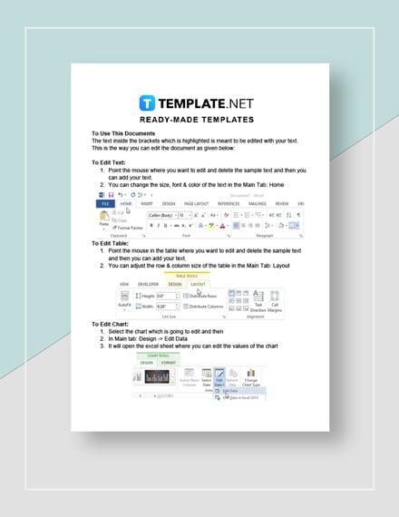 Blank Startup Capital Estimate instructions