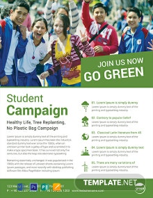 Free Student Campaign Flyer Template