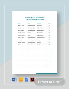 Business Checklist Template