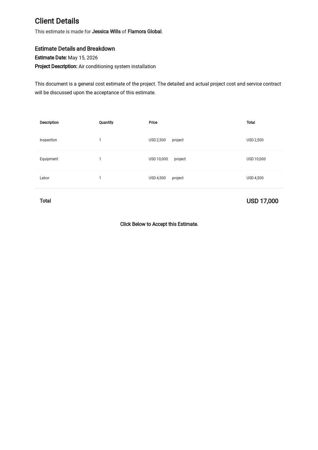 Free Blank Work Estimate Template 1.jpe