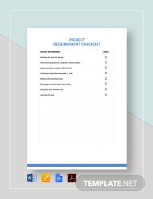 Project Requirement Checklist Template