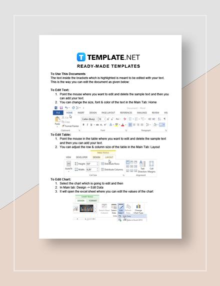 Blank Work Estimate Sheet Instructions