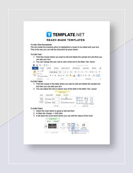 Simple Blank Estimate instructions