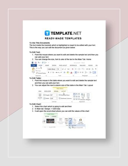 Company Work Estimate Instructions