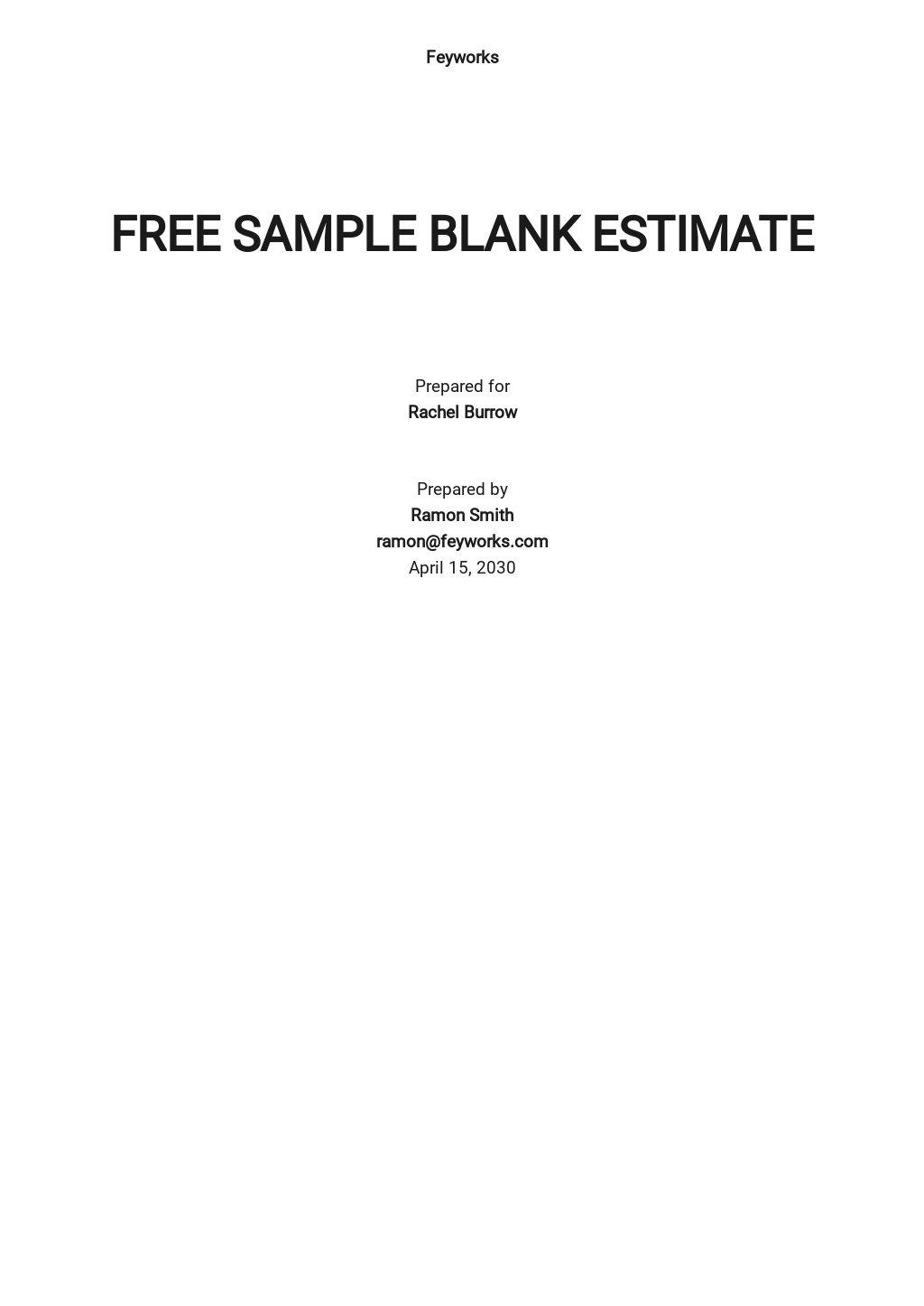 Free Sample Blank Estimate Template.jpe