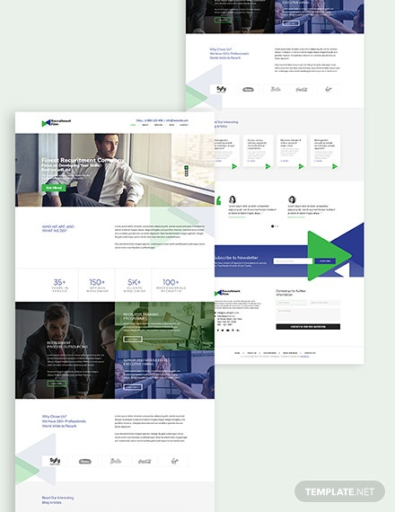 Recruitment Firm Bootstrap Landing Page Download