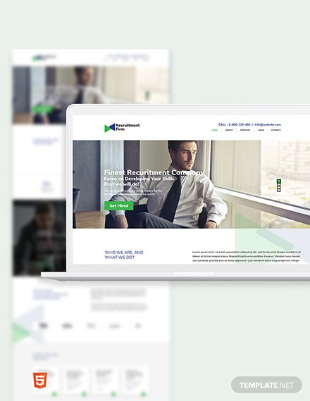 Recruitment Firm Bootstrap Landing Page Template