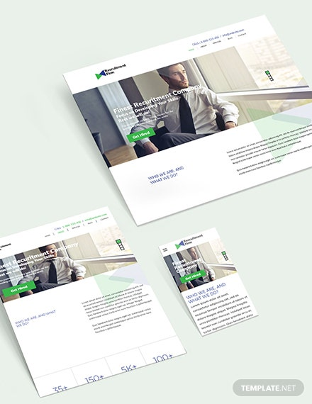 Sample Recruitment Firm Bootstrap Landing Page