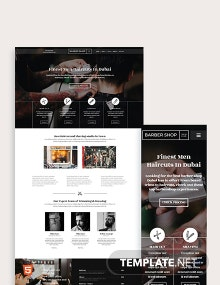Barber Shop Bootstrap Landing Page Template