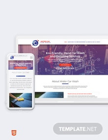 Car Wash Bootstrap Landing Page Template