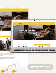 Staffing Agency Bootstrap Landing Page Template
