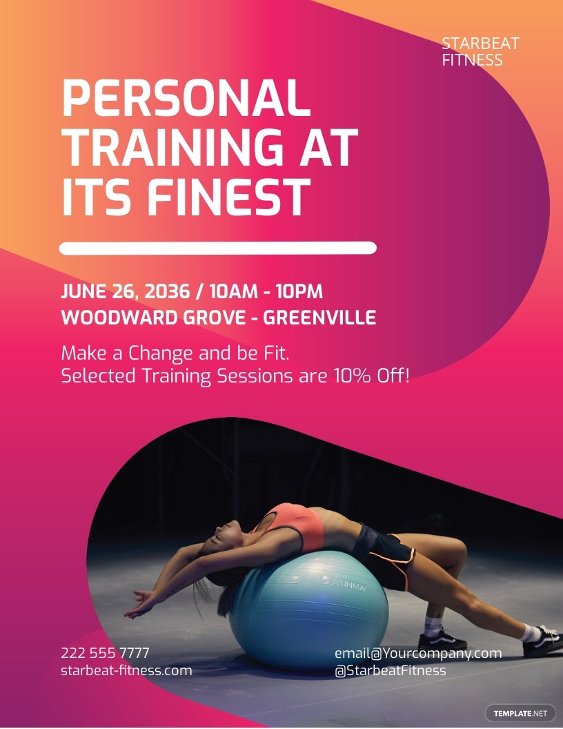 Fitness Trainer Flyer Template