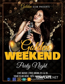 Free Weekend Night Party Flyer Template