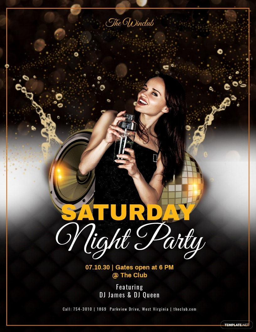 Weekend Night Party Flyer Template