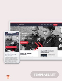 Security Guard Services Bootstrap Landing Page Template