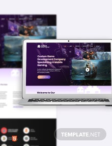 Gaming Company Bootstrap Landing Page Template