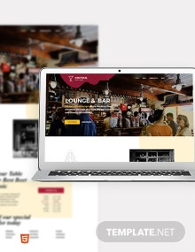Bar & Lounge Bootstrap Landing Page Template