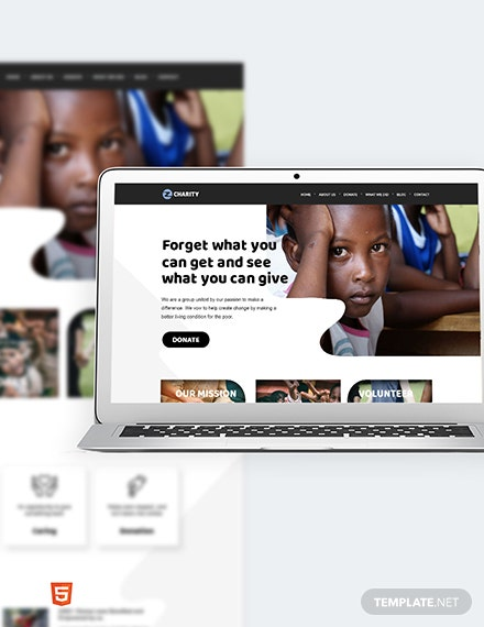 Charity Bootstrap Landing Page Template