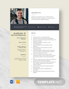 Diesel Generator Mechanic Resume Template