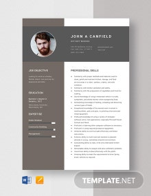 Dietary Worker Resume Template
