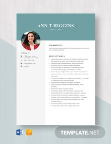 Direct Care Resume Template