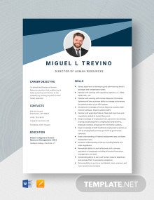 Director of Human Resources Resume Template