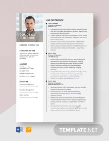 Director of Operation Resume Template